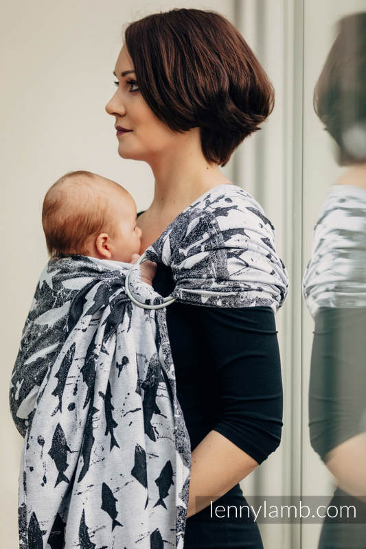 Ringsling, Jacquard Weave (100% cotton) - FISH'KA  - long 2.1m #babywearing