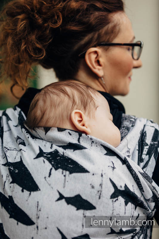 Żakardowa chusta do noszenia dzieci, bawełna - FISH'KA - rozmiar XS #babywearing