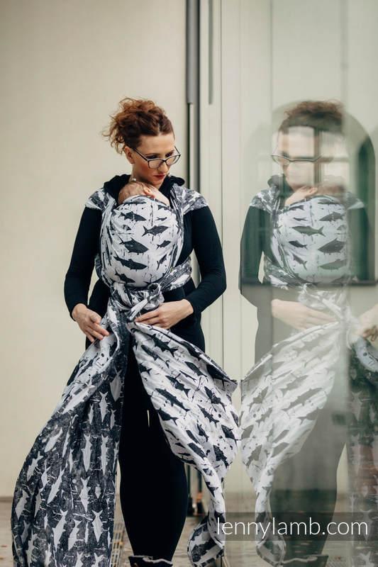 Baby Wrap, Jacquard Weave (100% cotton) - FISH'KA - size XL #babywearing
