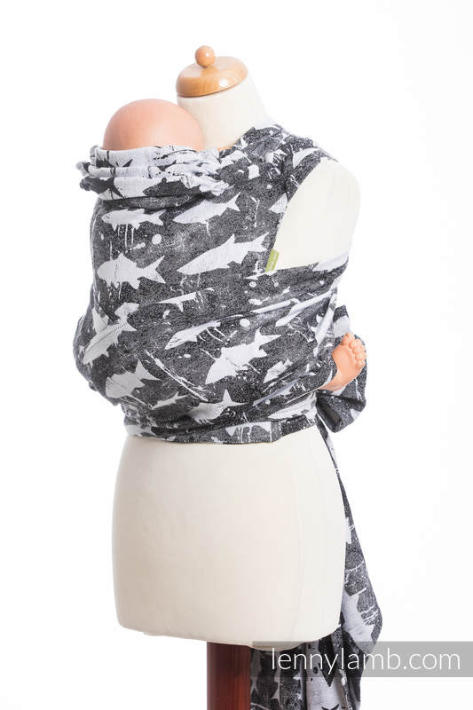 WRAP-TAI carrier Mini with hood/ jacquard twill / 100% cotton / FISH'KA (grade B) #babywearing