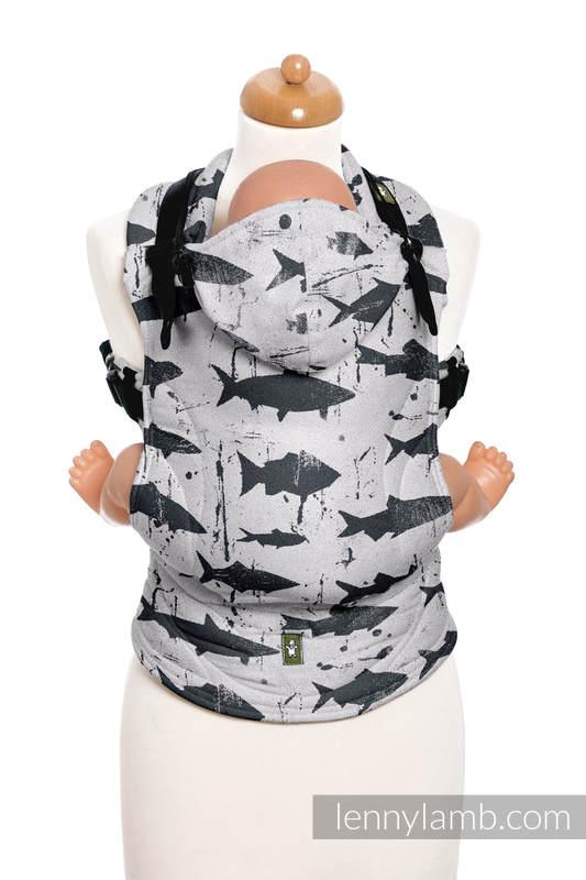 Mochila ergonómica, talla Toddler, jacquard 100% algodón - FISH'KA REVERSE  - Segunda generación #babywearing