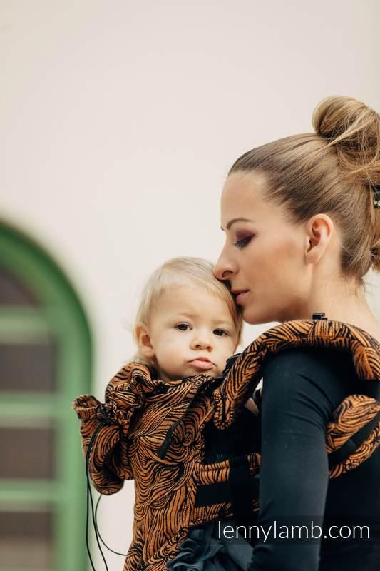 Nosidełko Ergonomiczne z tkaniny żakardowej, 50% bawełna, 50% len, Toddler Size, ZŁOTA ROSZPUNKA - Druga Generacja #babywearing