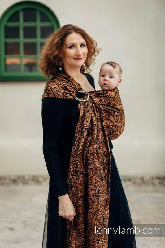 Ringsling, Jacquard Weave (50% cotton, 50% linen) - GOLDEN RAPUNZEL - long 2.1m #babywearing