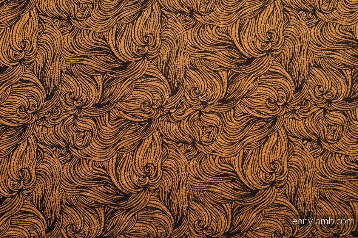 Baby Wrap, Jacquard Weave (50% cotton, 50% linen) - GOLDEN RAPUNZEL - size M (grade B) #babywearing