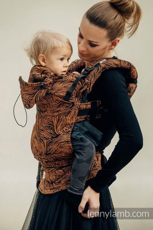 Ergonomic Carrier, Toddler Size, jacquard weave, 50% cotton, 50% linen) - GOLDEN RAPUNZEL - Second Generation #babywearing