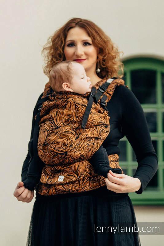 LennyUp Carrier, Standard Size, jacquard weave, 50% cotton, 50% linen) - wrap conversion from GOLDEN RAPUNZEL #babywearing