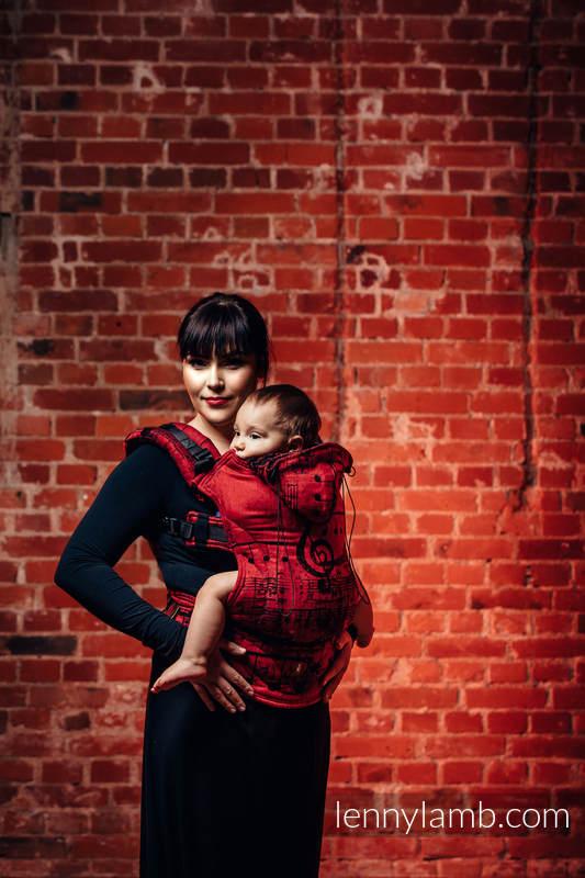 Nosidełko Ergonomiczne z tkaniny żakardowej 100% bawełna , Toddler Size, SYMFONIA FLAMENCO - Druga Generacja #babywearing