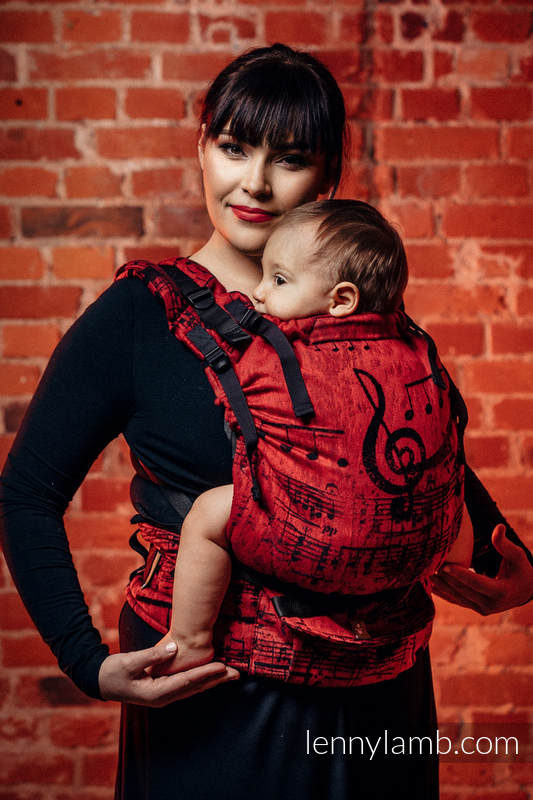 LennyUp Carrier, Standard Size, jacquard weave 100% cotton - wrap conversion from SYMPHONY FLAMENCO #babywearing