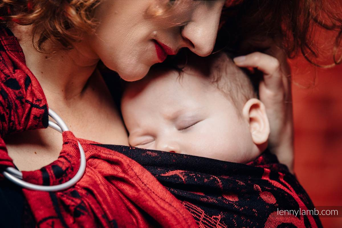 Ringsling, Jacquard Weave (100% cotton) - SYMPHONY FLAMENCO - standard 1.8m #babywearing