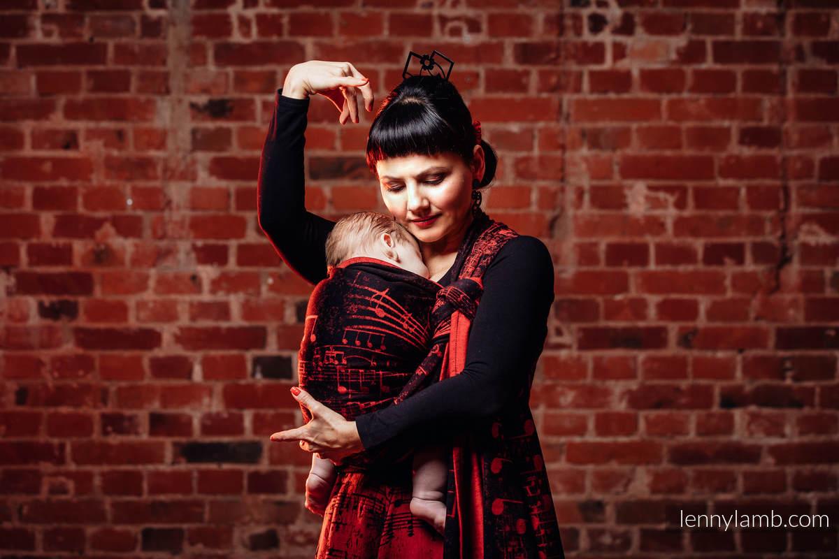 Baby Wrap, Jacquard Weave (100% cotton) - SYMPHONY FLAMENCO - size XL #babywearing