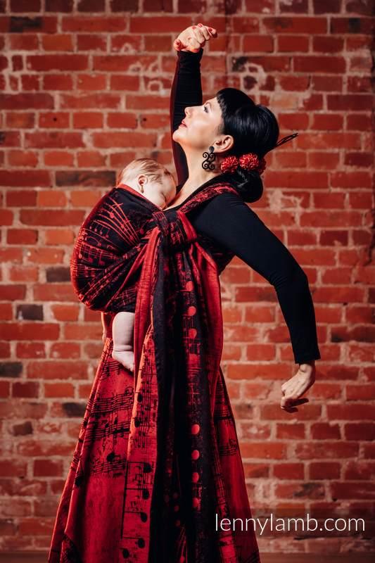 Baby Wrap, Jacquard Weave (100% cotton) - SYMPHONY FLAMENCO - size M #babywearing