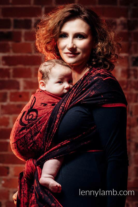 Baby Wrap, Jacquard Weave (100% cotton) - SYMPHONY FLAMENCO - size S #babywearing