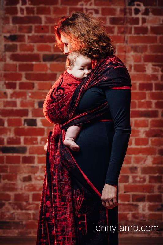 Baby Wrap, Jacquard Weave (100% cotton) - SYMPHONY FLAMENCO - size L #babywearing