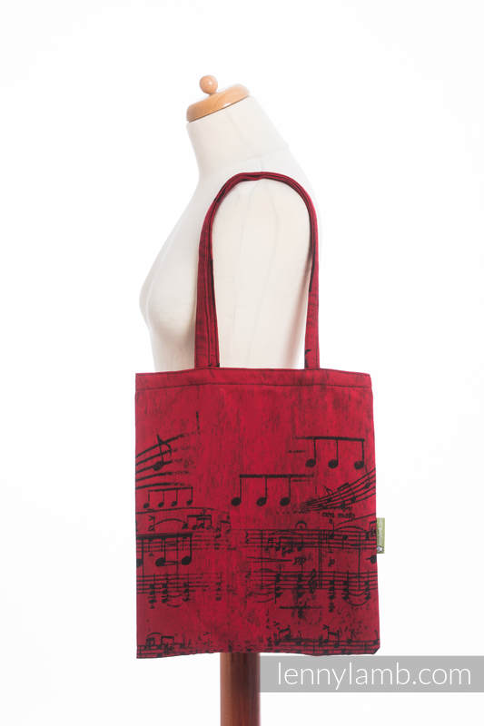 Shopping bag made of wrap fabric (100% cotton) - SYMPHONY FLAMENCO #babywearing