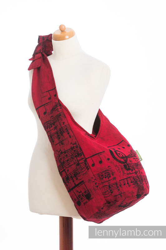 Hobo Bag made of woven fabric, 100% cotton - SYMPHONY FLAMENCO #babywearing