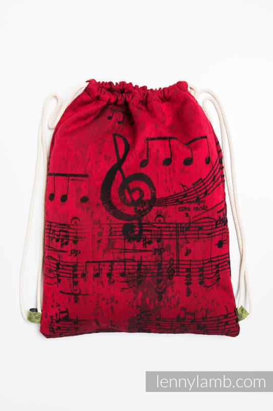 Sackpack made of wrap fabric (100% cotton) - SYMPHONY FLAMENCO - standard size 32cmx43cm #babywearing