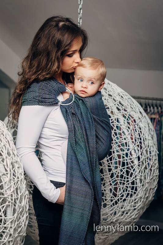 Ringsling, Pearl Weave (100% cotton) - with gathered shoulder - LITTLE PEARL - CHAMELEON #babywearing