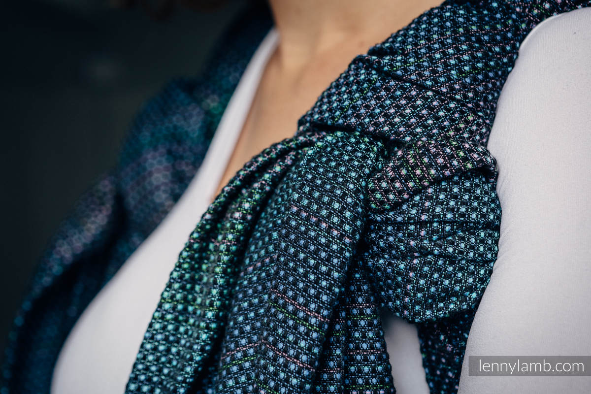 Baby Wrap, Pearl Weave (100% cotton) - LITTLE PEARL - CHAMELEON - size M #babywearing