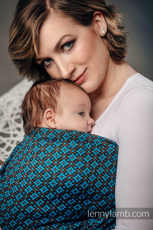Ringsling, Jacquard Weave (100% cotton) - with gathered shoulder - CAMELOT  - long 2.1m #babywearing