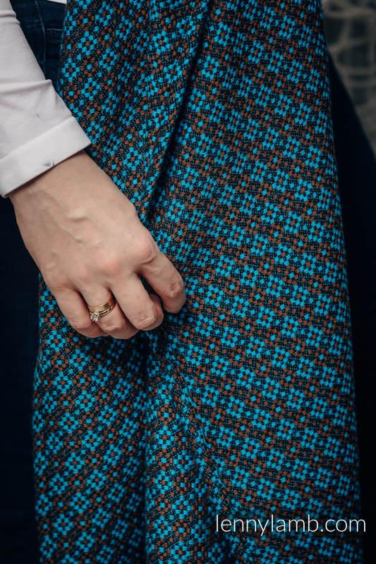 Bandolera de anillas, tejido Jacquard (100% algodón) - con plegado simple - CAMELOT - long 2.1m #babywearing