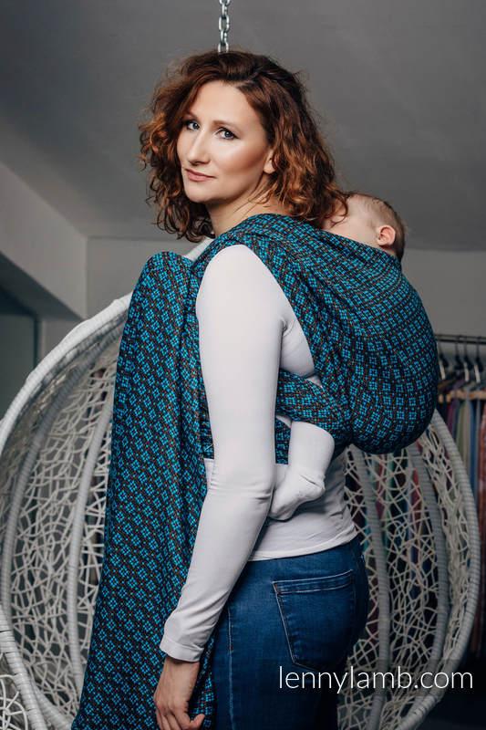Tragetuch, Jacquardwebung (100% Baumwolle) - CAMELOT - Größe M #babywearing