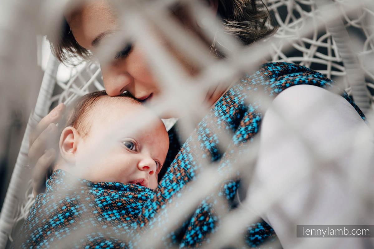 Tragetuch, Jacquardwebung (100% Baumwolle) - CAMELOT - Größe M (grad B) #babywearing