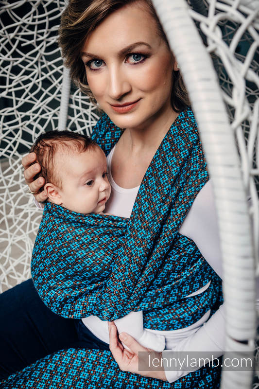 Baby Wrap, Jacquard Weave (100% cotton) - CAMELOT  - size S #babywearing