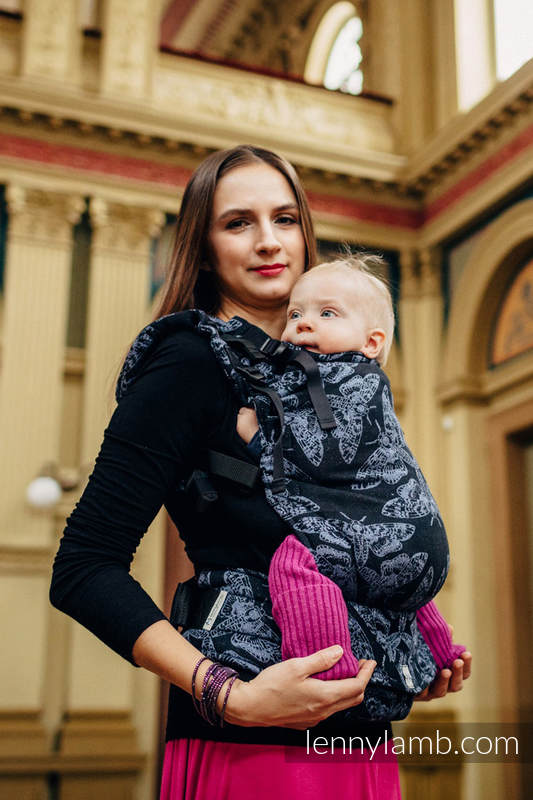 LennyUp Carrier, Standard Size, jacquard weave 96% cotton, 4% metallised yarn - QUEEN OF THE NIGHT #babywearing