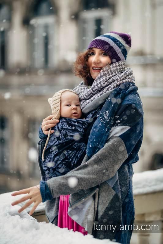 Baby Wrap, Jacquard Weave (96% cotton, 4% metallised yarn) - QUEEN OF THE NIGHT - size S #babywearing