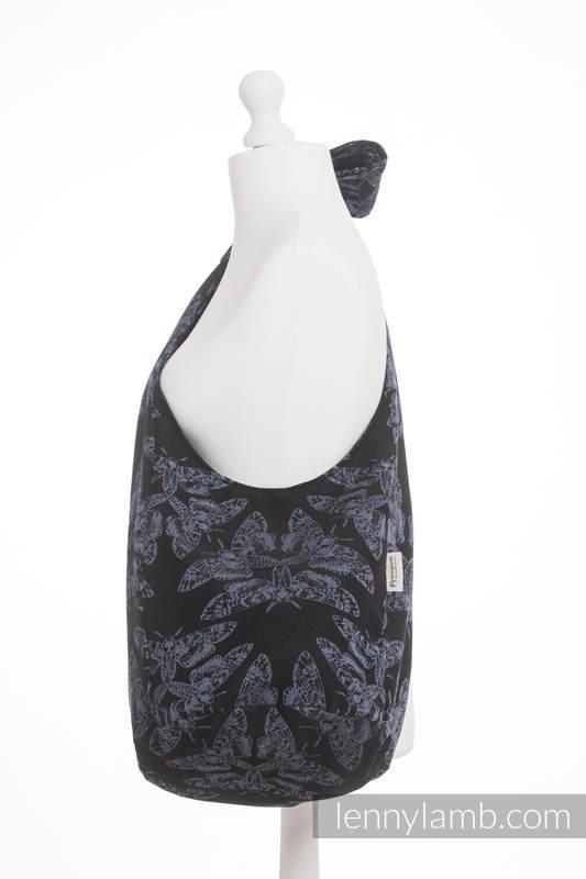 Hobo Bag made of woven fabric, 96% cotton, 4% metallised yarn - QUEEN OF THE NIGHT #babywearing