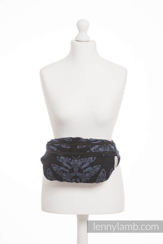 Waist Bag made of woven fabric, size large (96% cotton, 4% metallised yarn) - QUEEN OF THE NIGHT #babywearing