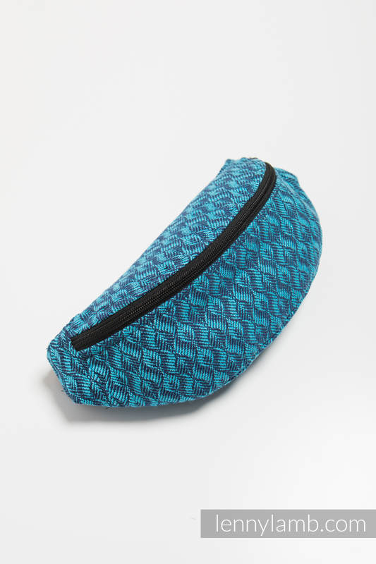 Waist Bag made of woven fabric, (100% cotton) - COULTER NAVY BLUE & TURQUOISE #babywearing
