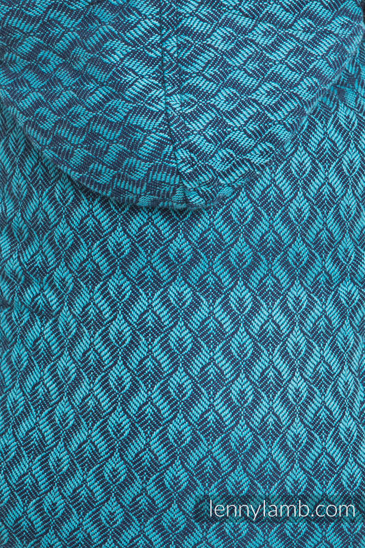 Nosidełko Ergonomiczne z tkaniny żakardowej 100% bawełna , Toddler Size, COULTERA GRANAT Z TURKUSEM - Druga Generacja #babywearing