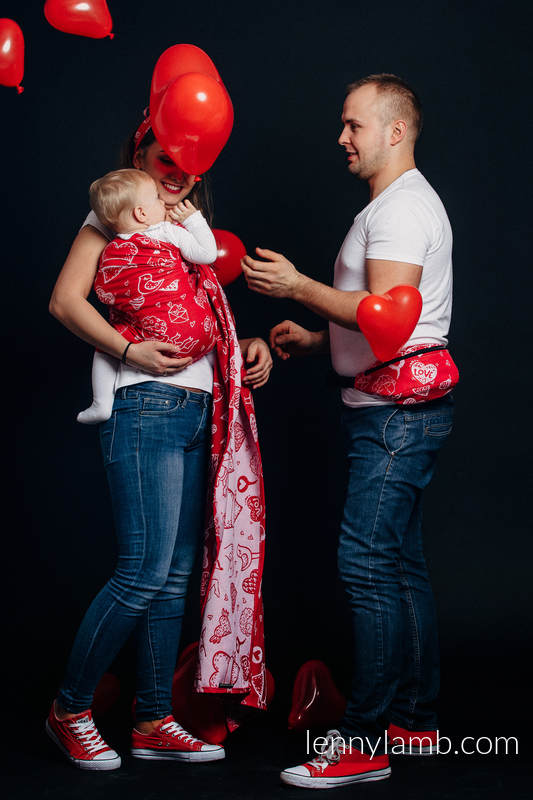 Bandolera de anillas, tejido Jacquard (100% algodón) - con plegado simple - SWEET NOTHINGS - long 2.1m #babywearing