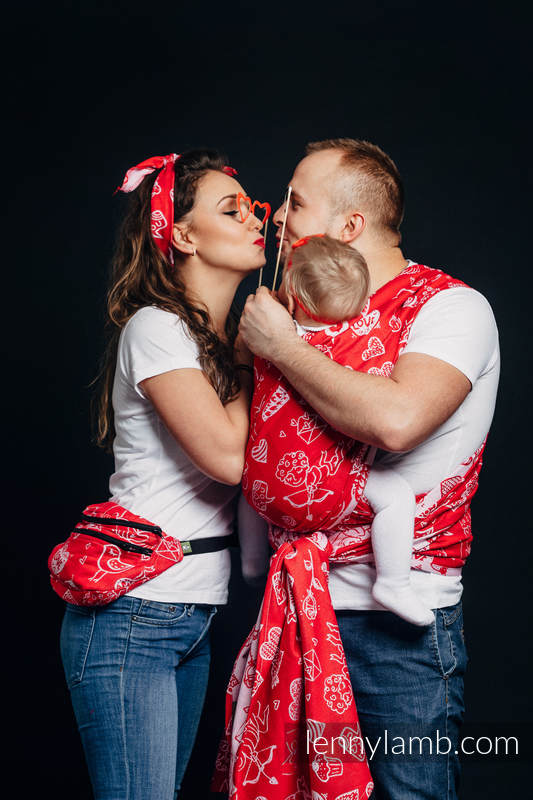 Gürteltasche, hergestellt vom gewebten Stoff, Große Größen  (100% Baumwolle) - SWEET NOTHINGS #babywearing