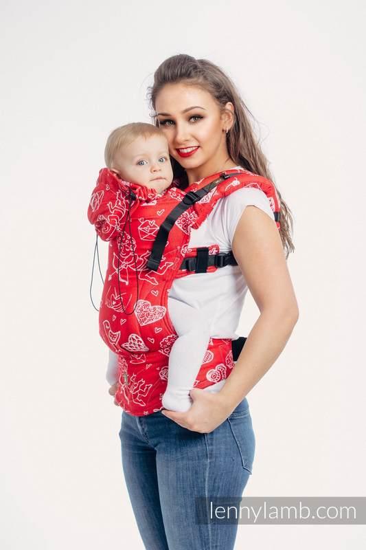 Nosidełko Ergonomiczne z tkaniny żakardowej 100% bawełna , Baby Size, CZUŁE SŁÓWKA - Druga Generacja #babywearing