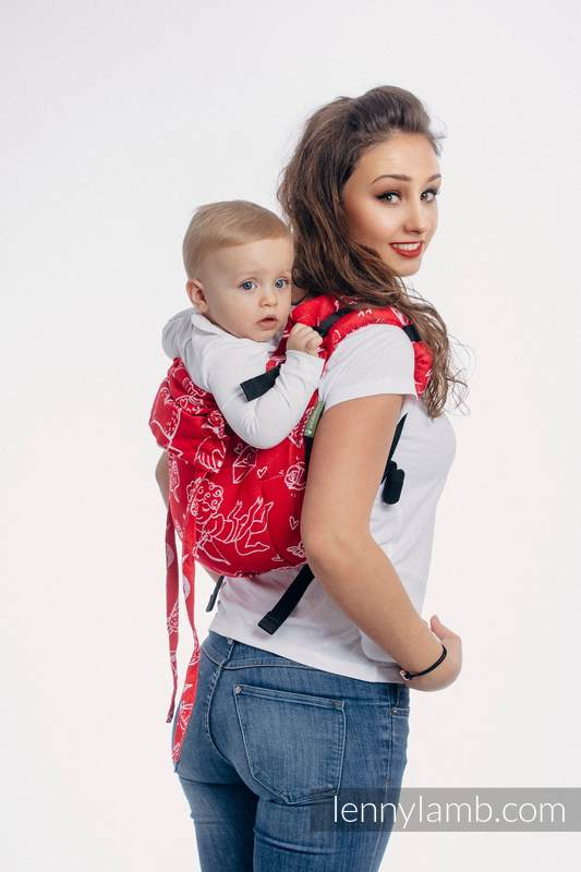 Lenny Buckle Onbuhimo baby carrier, toddler size, jacquard weave (100% cotton) - SWEET NOTHINGS #babywearing