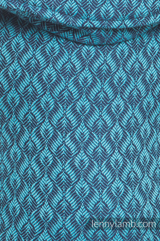 LennyUp Carrier, Standard Size, jacquard weave 100% cotton - COULTER NAVY BLUE & TURQUOISE #babywearing
