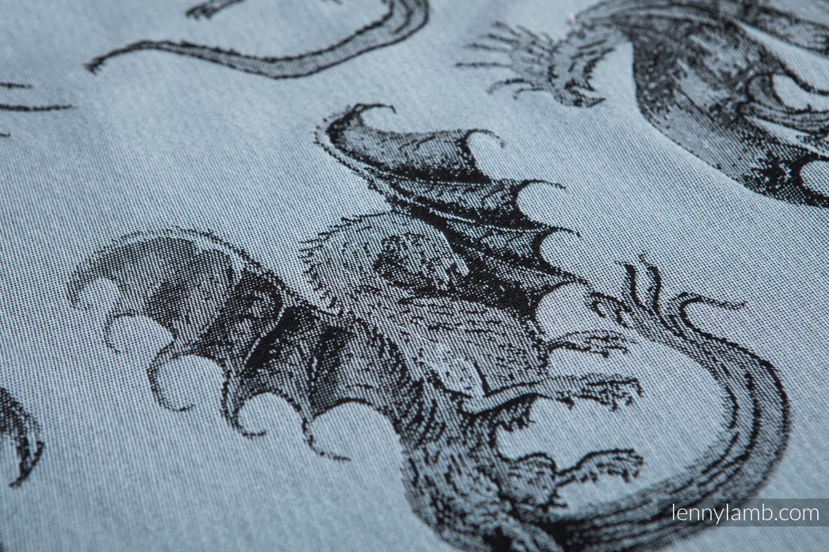 Baby Wrap, Jacquard Weave (100% cotton) - DRAGON STEEL BLUE - size S (grade B) #babywearing