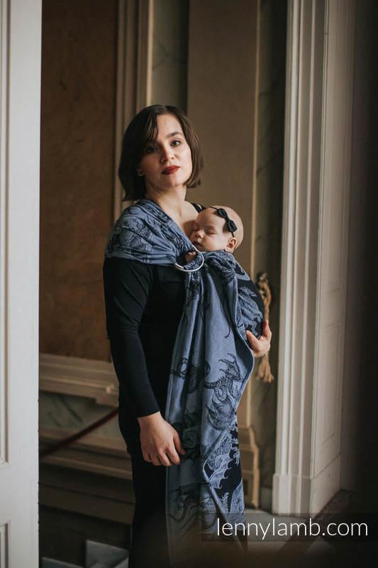 Ringsling, Jacquard Weave (74% cotton 26% silk) - MOON DRAGON - long 2.1m #babywearing
