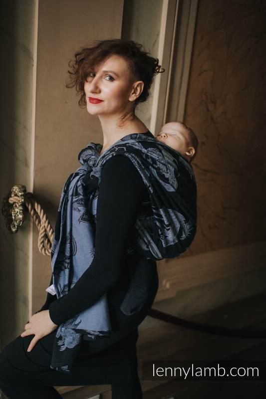 Żakardowa chusta do noszenia dzieci, 74% Bawełna 26% Jedwab - DRAGON KSIĘŻYCOWY - rozmiar XS #babywearing