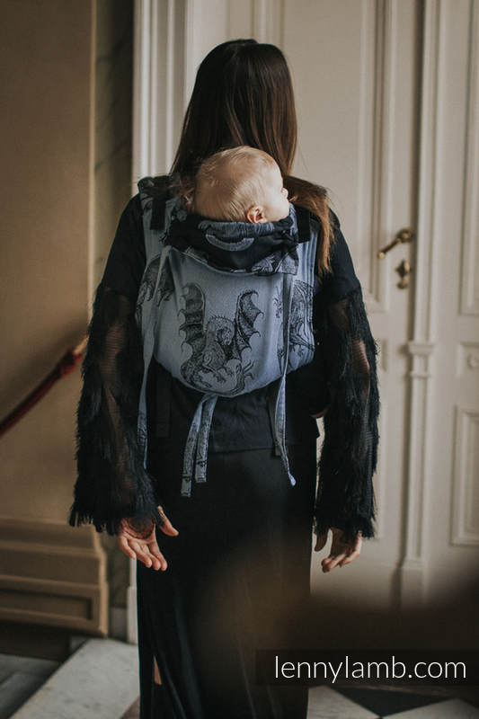 Onbuhimo SAD LennyLamb, talla estándar, jacquard (74% algodón, 26% seda) - MOON DRAGON #babywearing
