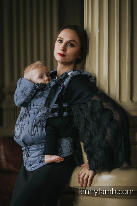 Nosidełko Ergonomiczne z tkaniny żakardowej 74% Bawełna 26% Jedwab, Toddler Size, DRAGON KSIĘŻYCOWY, Druga Generacja #babywearing