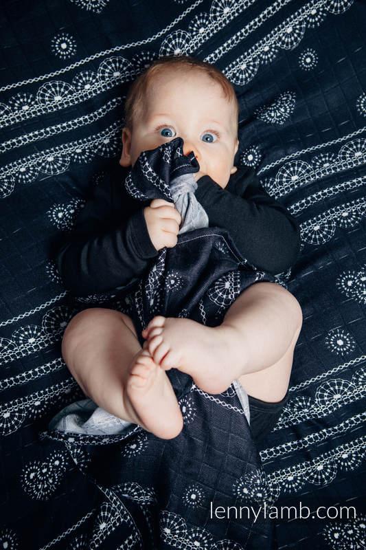 Zestaw Pieluszek Bambusowych - SYMFONIA TĘCZOWA DARK, SYMFONIA CZERŃ Z BIELĄ, KORONKA GLAMOUR #babywearing