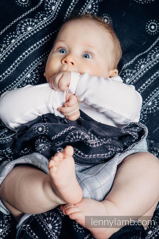 Swaddle Wrap Set - SYMPHONY RAINBOW DARK, GLAMOROUS LACE #babywearing