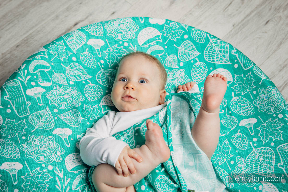 Muslin Square Set - SWALLOWS RAINBOW LIGHT, UNDER THE LEAVES, ROSE BLOSSOM #babywearing