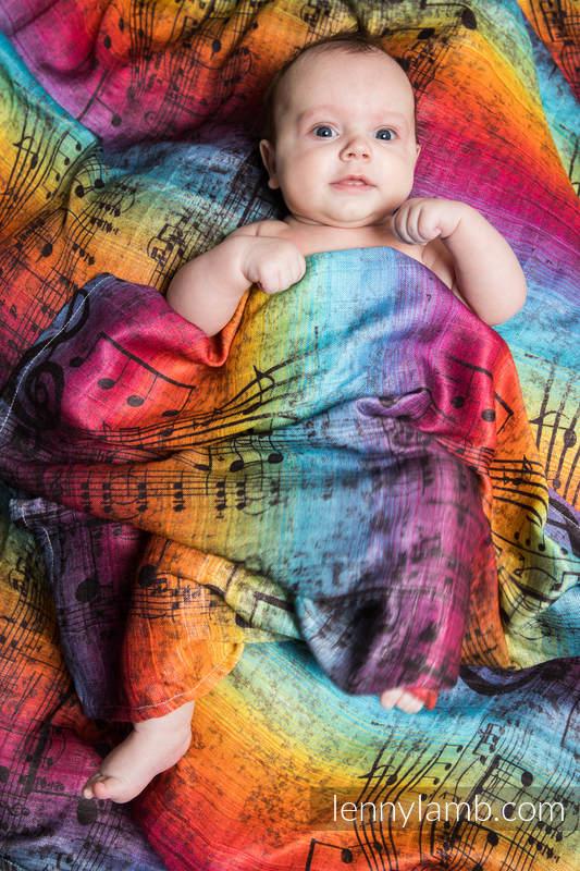 Swaddle Wrap - SYMPHONY RAINBOW DARK #babywearing