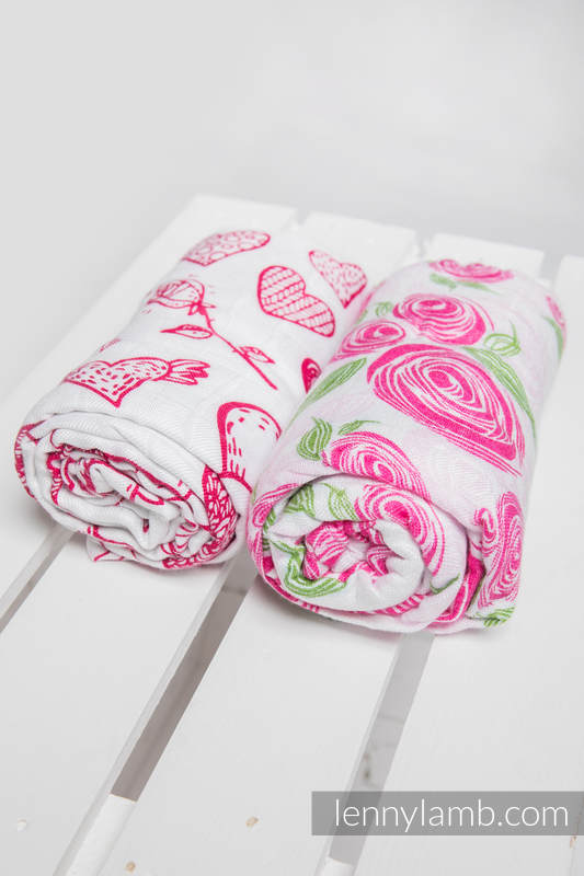 Swaddle Wrap Set - SWEET NOTHINGS, ROSE BLOSSOM #babywearing