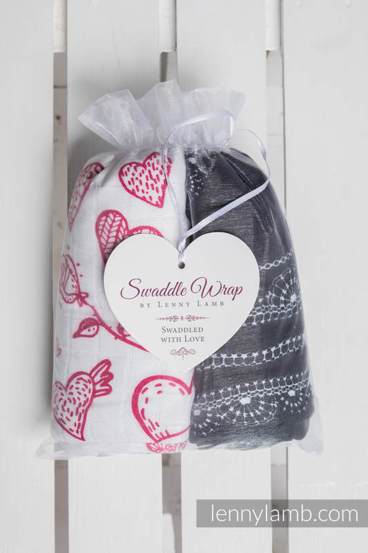 Swaddle Wrap Set - SWEET NOTHINGS, GLAMOROUS LACE #babywearing