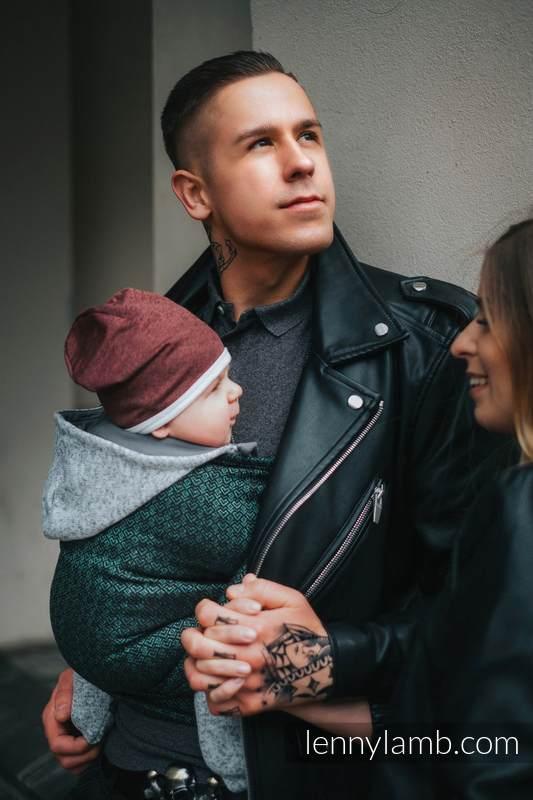 Żakardowa chusta do noszenia dzieci, 60% Bawełna 28% Len 12% Jedwab Tussah - LITTLE LOVE - BLUSZCZ - rozmiar S #babywearing